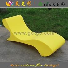 Rotomolding plastic sofa bed multicolored garden furniture outdoor deck chair