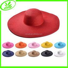 Fashion large beach floppy wide brim yiwu straw hat