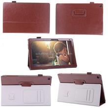 """10"""" folio flip pu leather tablet case for sony z2 tablet cover case"""