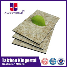 Alucoworld marble acp panels Aluminum Composite Panel acp marble texture walls panels for exterior wall covering