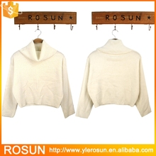 Casual White Long Sleeve Turtleneck Chunky Cable Knit Oversized Sweater