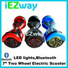2015 chic smart 8inch 2 wheels self balancing electric scooter with LED light