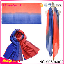 Royalblue and Watermelon Red Big Size Imitation Cashmere Scarf
