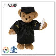 [ICTI certificated plush toy factory]Customized uniform graduation teddy bear