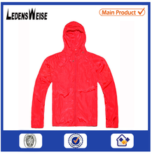 Red zippered high-quality spiritual thick sport jacket with hood