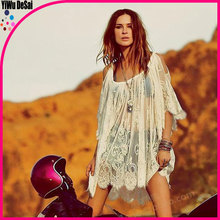 New product selling Only beautiful lace crochet condole leakage shoulder lady dress