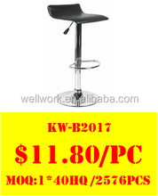 WorkWell Promotional pvc steel bar stools(Kw-B2017)