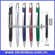 2013 Hot selling promotional aluminum barrel Metal ballpoint pen with metal refill