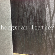 Knitted Black Pvc Leather Roll , Artificial Leather Stock Lot
