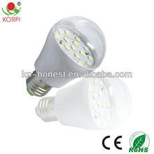 smd 5050 3W A60 e27 LED bulb 220V base aluminium emitting red color
