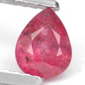 0.75 ct. De calidad superior de color rojo sin calefacción ruby piedras preciosas con certificar glc