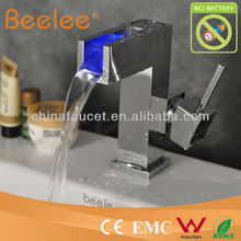 Water Powered LED Waterfall Faucet (QH0615F)