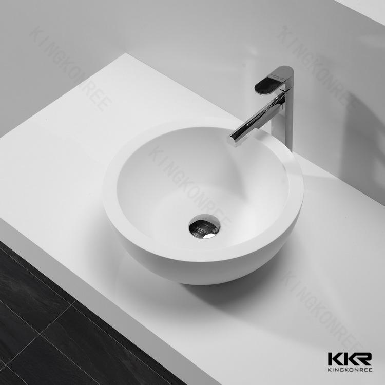 Hotel Bathroom Sink : Clean Hotel Bathroom Sink Solid Surface Above Counter Basin - Buy ...