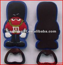 Fancy man soft pvc bottle openers with magnet