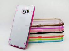 Ultra-Thin Glossy Luminous Glow Bumper Hard PC Case for Samsung Galaxy S6 edge G925