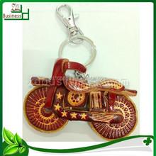 wonderful cute motorcycle genuine leather custom keychain