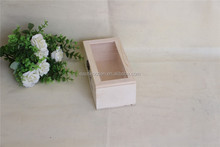wooden eternal life flower box with clear pvc window