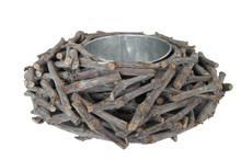 bird nest shape flower pot, crazy design planter, wood plant pot