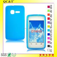 Cheap wholesale TPU pudding mobile phone case for Alcatel OT4010