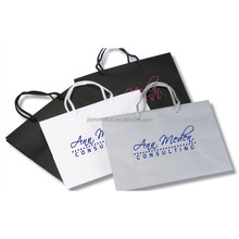 Customized Kraft Paper Bag with Empty Window and Die Cut Handle for Double Wine Take Away Packaging