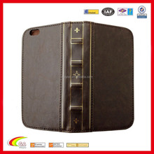 Vintage book style genuine leather cae for iphone 6, Custom Genuine leather case for iphone 6 manufacturers & exporters