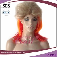cheap synthetic multi colorful party wig