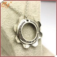The new foreign trade sales sautoir war machine ingranaggi logo gear necklace