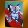 New arrival cat arts and craft oil painting for living room
