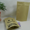 WHITE STAND UP KRAFT PAPER PACKAGING BAGS FOR COFFEE/COFFEE BEAN OR TEA