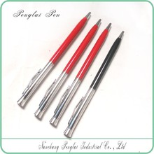 Hot sale cheap new twist action metal slim hotel pen