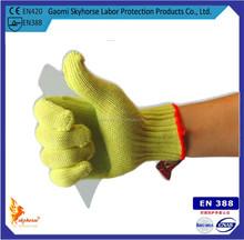 10G Kevlar Gloves/Aramid Fiber Latex Coated Safety Equipment Working Gloves