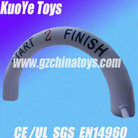 inflatable white advertising arch