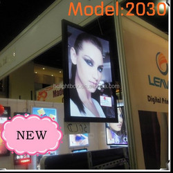 Aluminum frame slim led light box double side photo frame with high brightness leds