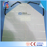 Custom washable PVC apron waterproof butcher apron printed plastic apron factory