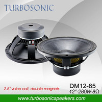 Double magnets long excursion 12 inch PA WOOFER (DM12-65)