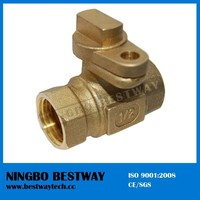 DN15 DN20 Brass ball valve with lock for water meter