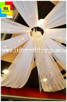 white chiffon wedding ceiling drapery/wedding tent decoration/white drapes for weddings