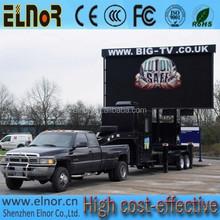 Adjustable lifting higly waterproof P10 mobile advertising LED Display truck