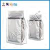 silver zip lock resealable aluminium foil plastic bag