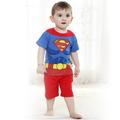Kinder 1-3 Jahre alt baumwolle zeichentrickfigur kostüm, Superman anzüge, babykleidung, kurzarm, baby anzug