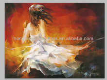 100% handmade nude girl dancing oil painting for wall dec HF-RWA02 (10)