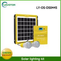 5W solar panel portable solar lighting system with 260 lumen led light