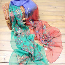 2015 spring and autumn design chiffon long silk scarf summer sunscreen air conditioning cape women's scarf