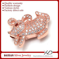 XD P793 925 Sterling Silver Animal Shaped Mouse for Jewelry