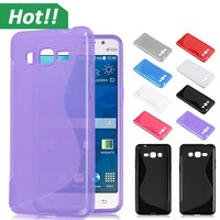 Bulk Cell Phone Case S Line Wave Soft Gel TPU Back Cover for Samsung Galaxy Grand Prime