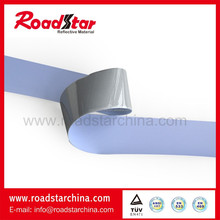 high silver single side reflective elastic fabric Polyester backing