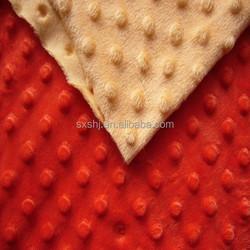 100% Polyester Super Soft Minky Velvet Fabric Dot
