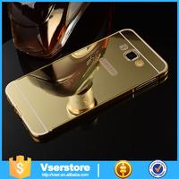 Luxury ultra-thin aluminum metal bumper case for Samsung s 6 mirror bumper case