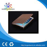 New china products golden leather flip case for ipad