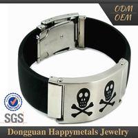 Stainless Steel Brand New Design Mens Bracelet Skull With Sgs Certification